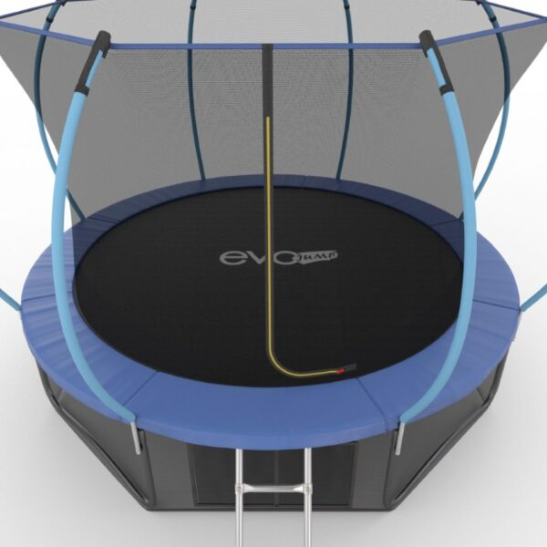 4 - EVO JUMP Internal 12ft (Blue) + Lower net. Батут с внутренней сеткой и лестницей, диаметр 12ft (синий) + нижняя сеть.