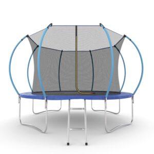 16 - EVO JUMP Internal 12ft (Blue) Батут с внутренней сеткой и лестницей, диаметр 12ft (синий).