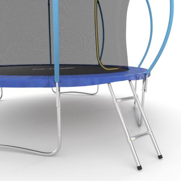 3 - EVO JUMP Internal 12ft (Blue) Батут с внутренней сеткой и лестницей, диаметр 12ft (синий).