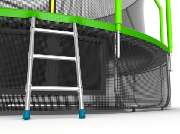 4 - EVO JUMP Cosmo 16ft (Green) + Lower net. Батут с внутренней сеткой и лестницей, диаметр 16ft (зеленый) + нижняя сеть.