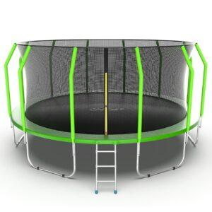 12 - EVO JUMP Cosmo 16ft (Green) Батут с внутренней сеткой и лестницей, диаметр 16ft (зеленый).