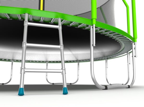 4 - EVO JUMP Cosmo 16ft (Green) Батут с внутренней сеткой и лестницей, диаметр 16ft (зеленый).