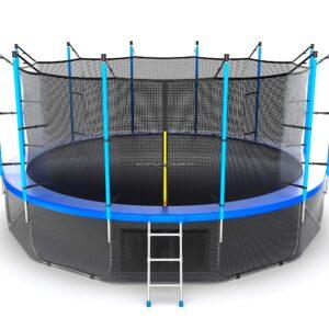 11 - EVO JUMP Internal 16ft (Blue) + Lower net. Батут с внутренней сеткой и лестницей, диаметр 16ft (синий) + нижняя сеть.