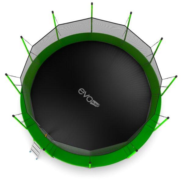 3 - EVO JUMP Internal 16ft (Green) + Lower net. Батут с внутренней сеткой и лестницей, диаметр 16ft (зеленый) + нижняя сеть.