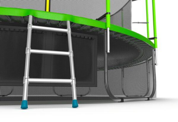 4 - EVO JUMP Internal 16ft (Green) + Lower net. Батут с внутренней сеткой и лестницей, диаметр 16ft (зеленый) + нижняя сеть.