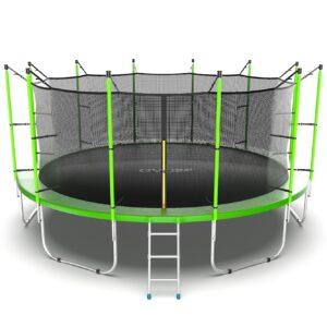 7 - EVO JUMP Internal 16ft (Green) Батут с внутренней сеткой и лестницей, диаметр 16ft (зеленый).