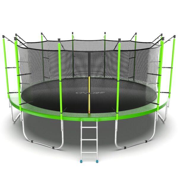 1 - EVO JUMP Internal 16ft (Green) Батут с внутренней сеткой и лестницей, диаметр 16ft (зеленый).