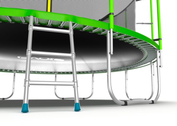 2 - EVO JUMP Internal 16ft (Green) Батут с внутренней сеткой и лестницей, диаметр 16ft (зеленый).